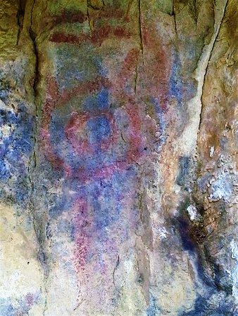 Sachica, Colombia: pinturas rupestres.