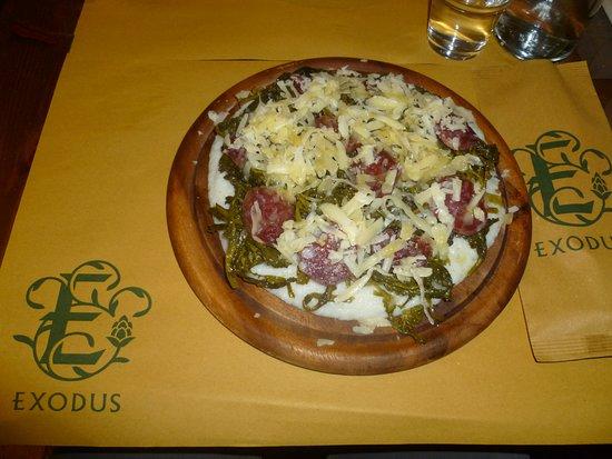 Exodus Pub: Polenta biancoperla con stortina, broccoletti e formaggio monte veronese