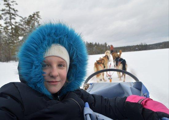 Korskrogen, สวีเดน: Going across icy lake