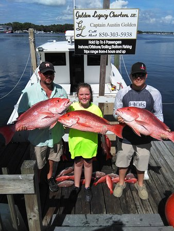 Treasure Island, FL: Trio of Red Snappers