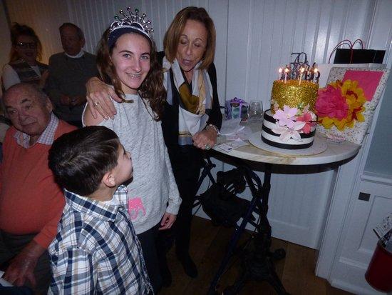 Basking Ridge, NJ: cake and candles