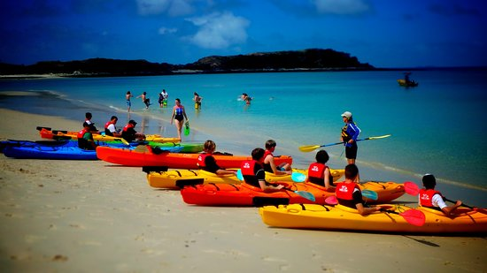 Great Keppel Island, Australia: Safety briefing