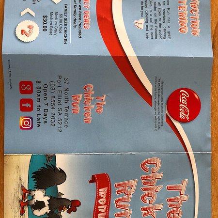 Port Elliot, Austrália: The chicken run menus