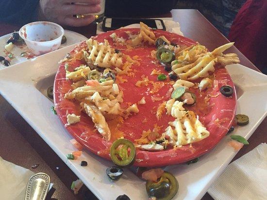 Alta, Вайоминг: We devoured the Wydaho Nachos!