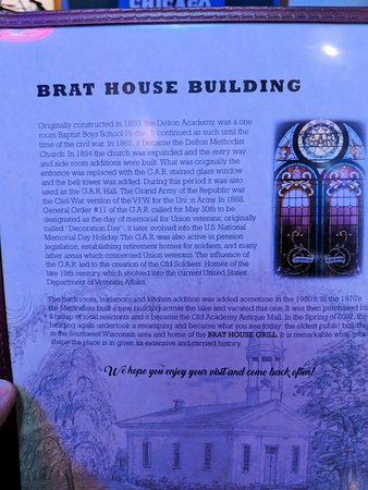 Brat House Grill: History of the building