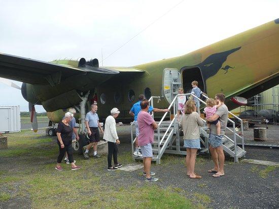 Evans Head Memorial Aerodrome Heritage Aviation Museum: Caribou plane at the Evans Head Memorial Aviaiton Museum.