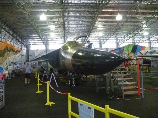 Evans Head Memorial Aerodrome Heritage Aviation Museum: F 1 11 fighter jet at the Evans Head Memorial Aviaiton Museum.