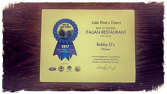 Jefferson, Kuzey Carolina: Voted BEST Italian restaurant 2017!