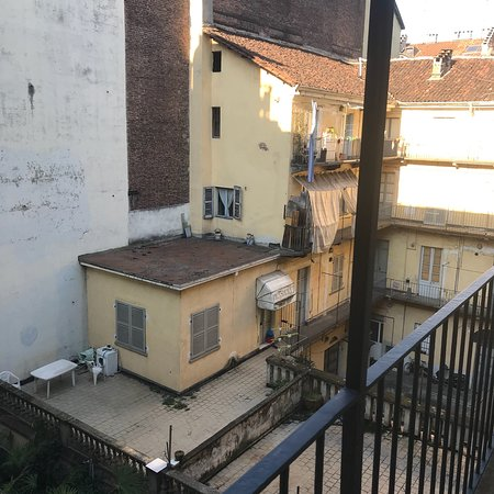 Holiday Inn Turin City Center: View from the room balcony - not very attractive but quiet