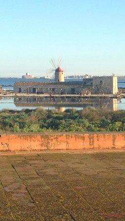 Nubia, อิตาลี: Trattoria vista dalla stanza