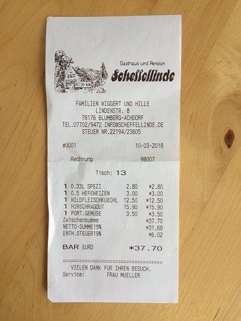 Blumberg, ألمانيا: Rechnung