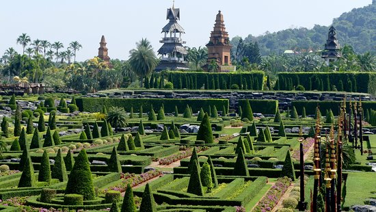 The French Garden in front of the four towers - Picture of Nong ...