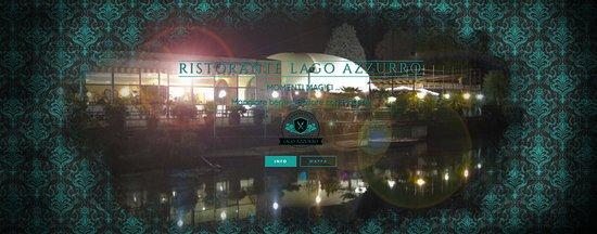 Volpiano, Italia: Vista Notturna della Sala grande del Ristorante Lago Azzurro