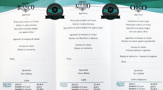 Volpiano, Italia: Il nostro Menu di base per le Cerimonie!