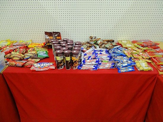Jeffersonville, IN: inside - some candy expired already