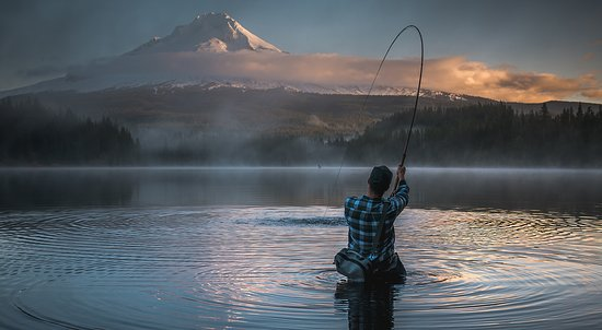 Clackamas, OR: Fishing at Trillium Lake