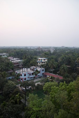 Noakhali, Bangladesh: View from the rooftop.