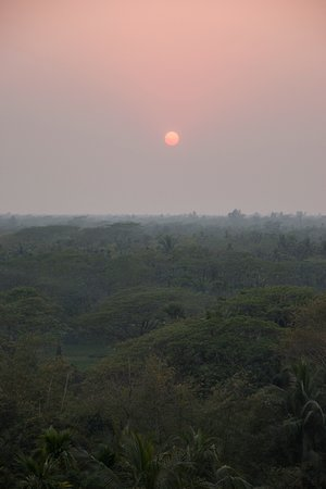 Noakhali, Bangladesh: Sunset from the rooftop.