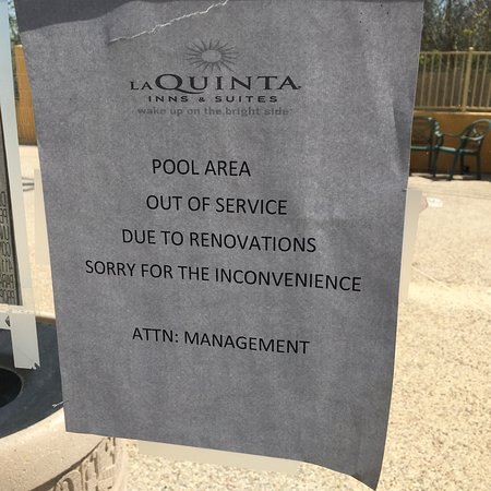 Pearland, TX: No work being done on the pool. Just closed. Garbage.