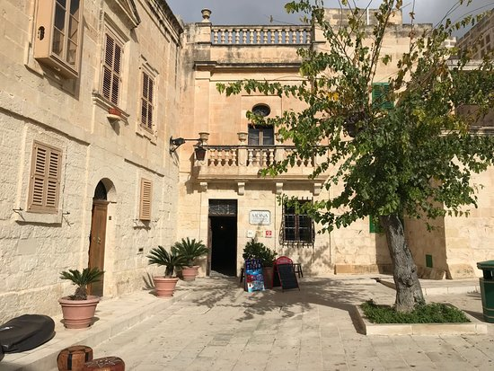 Entry to Mdina Experience through Mesquita Square -Quaint public square of the Silent city of Md