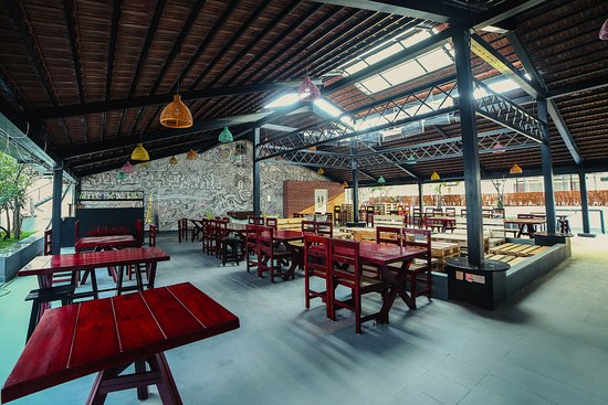 Hungry Hippie spacious outdoor seating & hippie canopy - Picture of Hungry Hippie Bengaluru - TripAdvisor