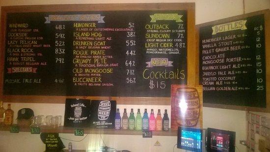 Lance aux Epines, Grenada: Beer menu