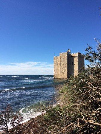 Iles de Lerins: The abbey form a distance