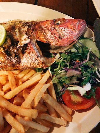 Crab Hill, Antigua: Freshly caught red snapper