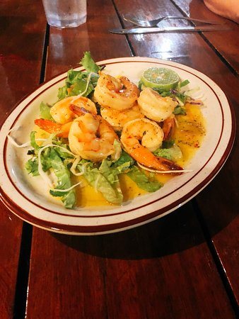 Crab Hill, Antigua: Spicy garlic shrimp