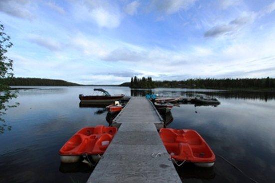 Nimpo Lake, Canada: Boat dock