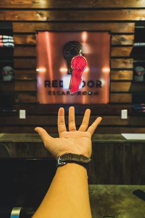 Red Escape Room Plano
