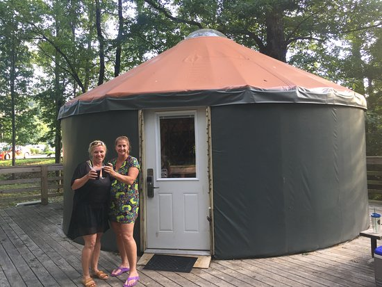 Catherine's Landing, an RVC Outdoor Destination: Outside the Yurt