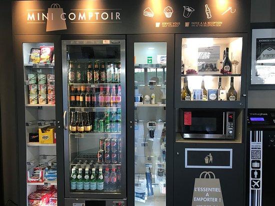 Bobigny, France: vending machine in the lobby