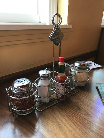San Mateo, Californië: Assortment of spices on a table