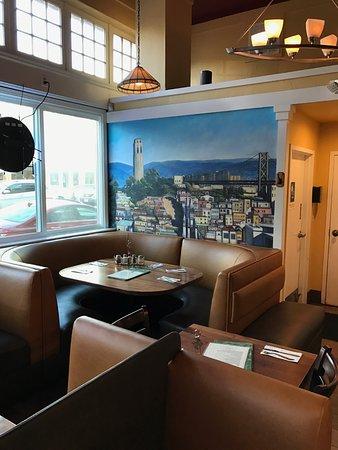 San Mateo, Californië: Inside the pizzeria