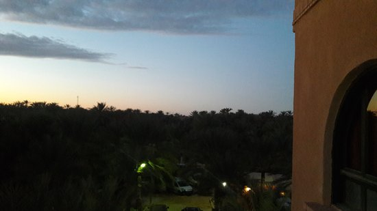 Residence el Arich : Sunset view of the backyard