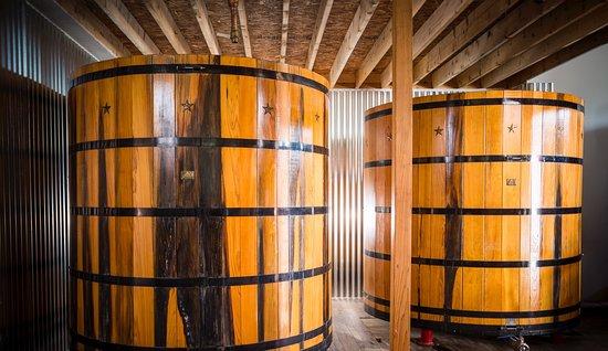 Stoll & Wolfe Distillery: Wooden Fermenters