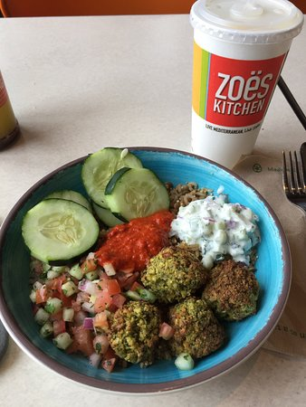 Zoes New Baked Falafel Bowl Picture Of Zoes Kitchen