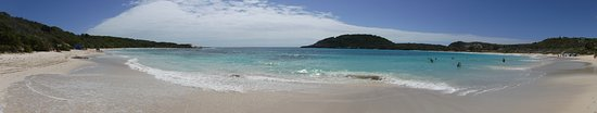 Saint Philip Parish, Antigua: Panorama from the center of the beach