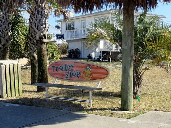 Pensacola Beach Trolley Bench
