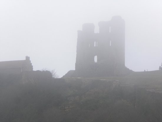 Scarborough Castle: On the way to the castle.