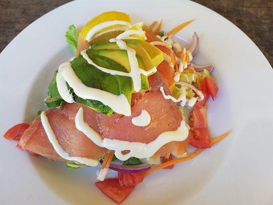 St. Albans, Αυστραλία: Salmon and Avocado Salad, very yummy