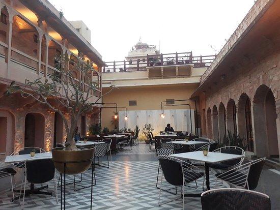 Evening Lighting At Baradari Restaurant And Bar Inside City Palace