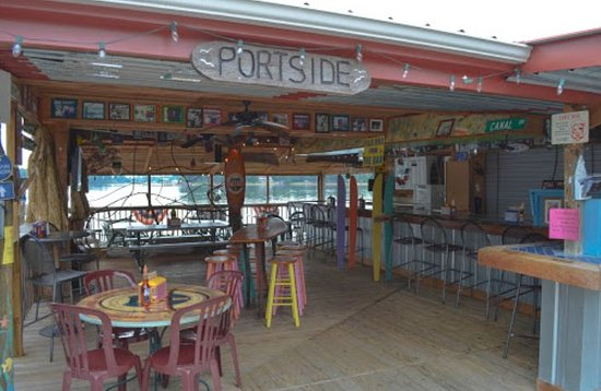 The Virginia Dare Cruises and Marina: Only over the water bar & grill