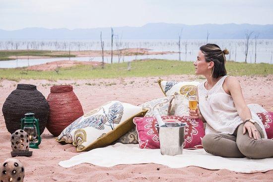Lake Kariba, Zimbabwe: Relaxing at Changa
