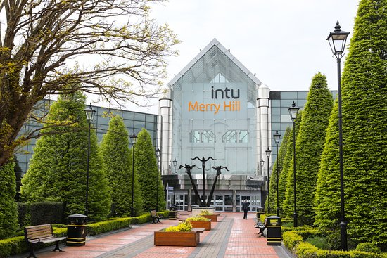 Dudley, UK: intu Merry Hill - Flying Anvils entrance
