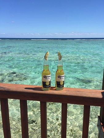 Bodden Town, Grand Cayman: View off the deck!