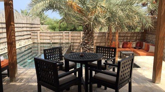 Six Senses Zighy Bay: 2/3 rd line pool villa terrace and view