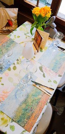 Saas-Grund, Suiza: Frühling im Restaurant Bodmen