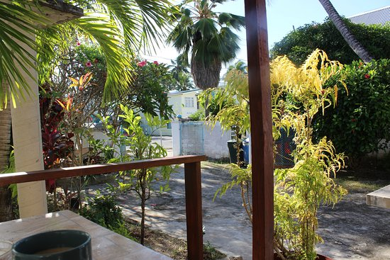 Worthing, Barbados: The view from our patio
